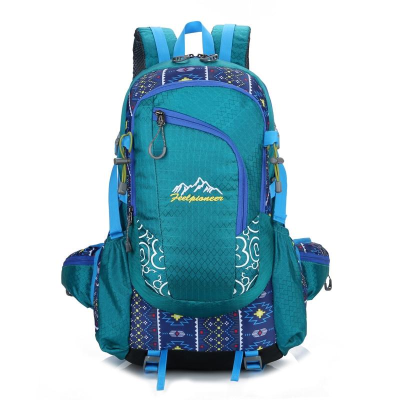 40L Waterproof Nylon Backpack Men Women Sport School Back Bags Camping Hiking Pack Ski backpack rock