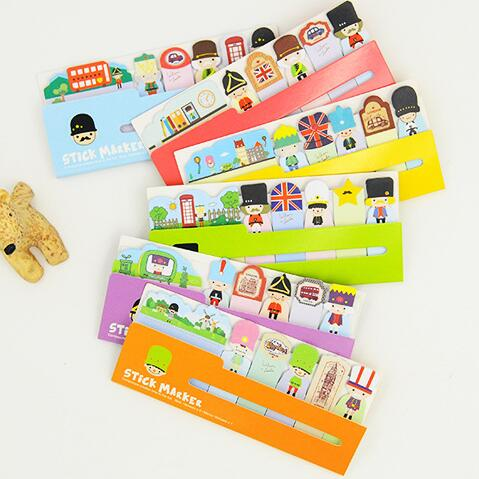 British Style Soldiers Mini Memo Pad N Times Sticky Notes Memo Notepad Bookmark Gift Stationery