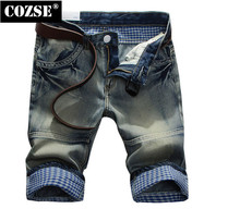 2015 новинка лето люди плед складной мыть гольфы джинсы брюки брюки горячая распродажа D3903