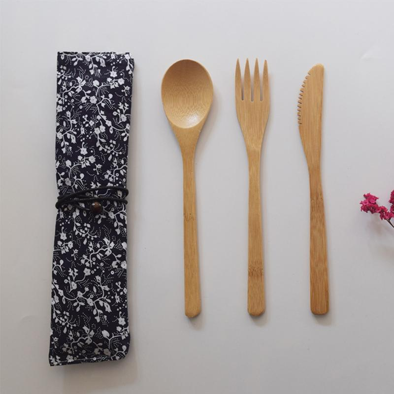 Bamboo Eco Baby Bowl Spoon Fork Set Giraffe Aromatic Flavor Feeding Baby