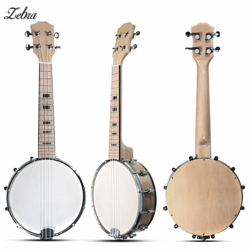 Zebra Sapelli Electric Acoustic 4 Strings Bass Guitar Guitarra Maple Concert Soprano Ukulele For Stringed Musical Instruments 3 holder iron foldable acoustic electric bass guitar guitarra stand holder bracket mount for musical instruments part accessoris