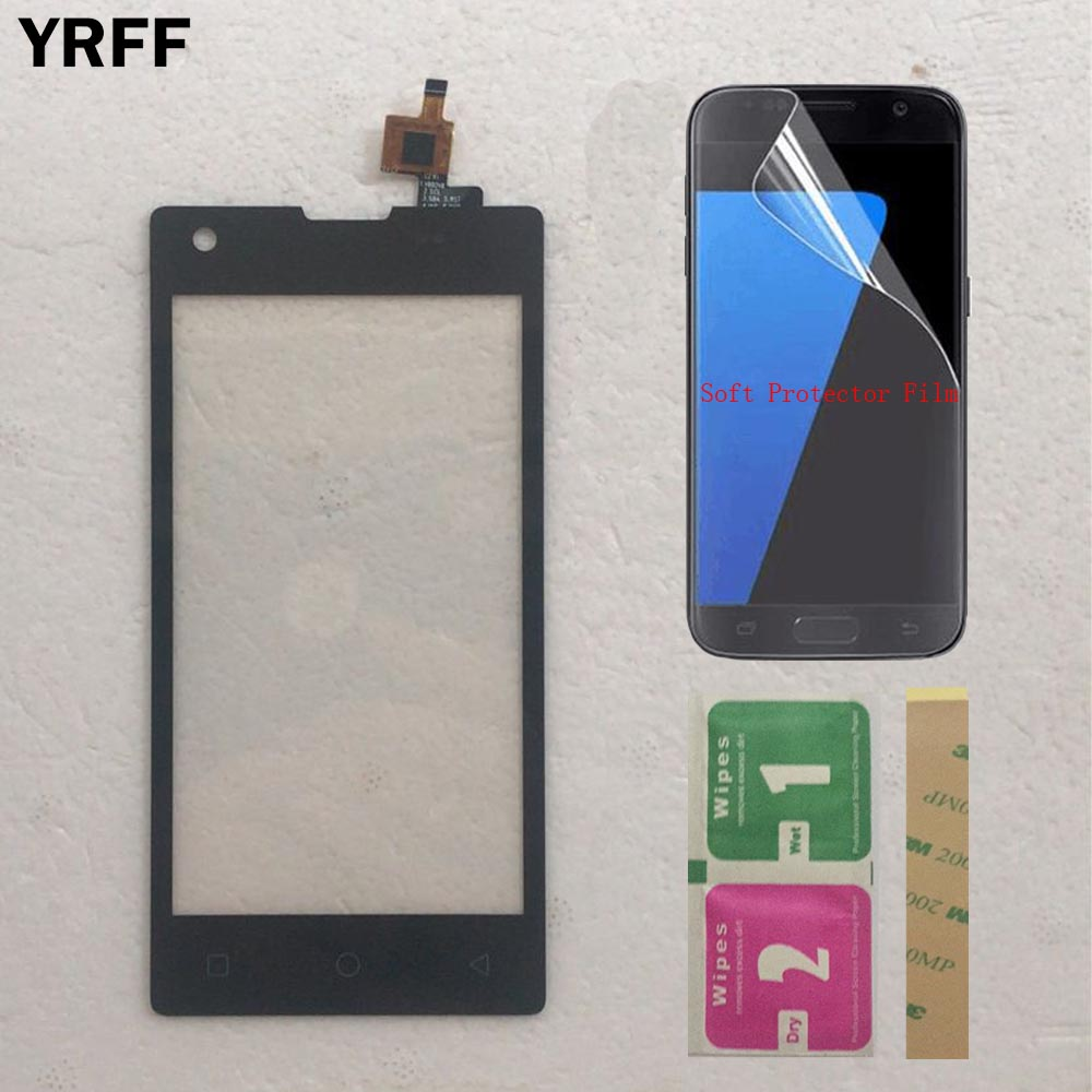 Mobile Touch Screen For Tele2 Midi Touch Screen Digitizer Touch Panel Lens Glass With Tape Protector Film