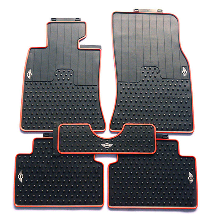 weather mat rear mats mini part clubman black g floor cooper countryman oem all