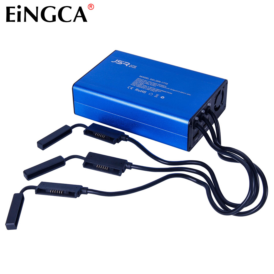 2017 NEW Intelligent Quick Battery Charger (Without Battery) Fits for Dji Xiao Spark Mini Aircraft 1480mAh 11.4V Battery x 3