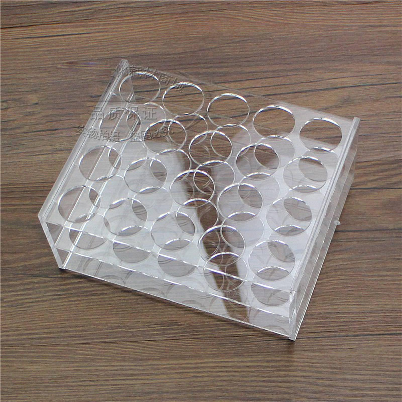 29mm Diam 20 Holes Methyl Methacrylate Rack Stand For 50ml Centrifuge Tubes
