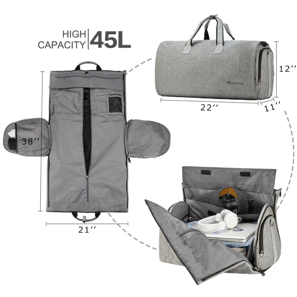 Modoker Travel Garment Bag With Shoulder Strap Duffel Carry On Hanging Suitcase Clothing Business Multiple Pockets In Bags From Luggage