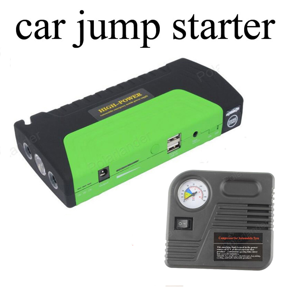 Car Jump Starter Vehicle Engine Booster Emergency Start Battery Portable Charger Power Bank for Electronics
