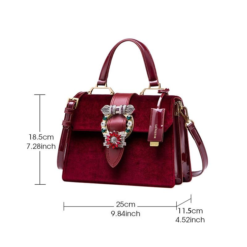 8c77b9fb9177 LAFESTIN Famous Bags Women Designer Lock Diamonds Handbags Luxury ...