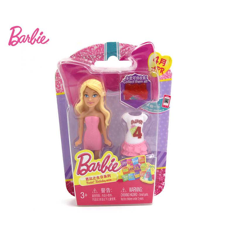 2 шт. Кукла Барби Зодиак и день рождения серии Барби Детские игрушки с платьем одежда подарок на день рождения для девочек CMY78
