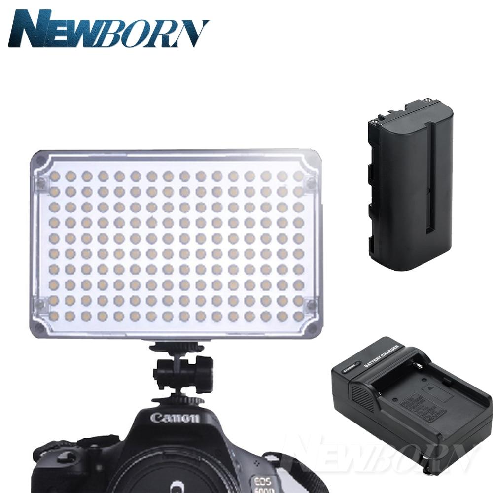 Aputure Amaran AL-H160 CRI 95+ 160 LED Video Studio Light Photography Lighting + NP-F550 Battery+Charger for Canon Nikon etc... цена