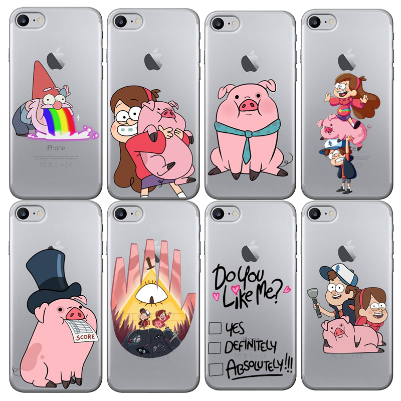 Artoon Anime Gravity Falls Family Art Soft silicone Phone Case for Apple iPhone 6 6S Plus 5 5S SE 7 8 X 10 Cover