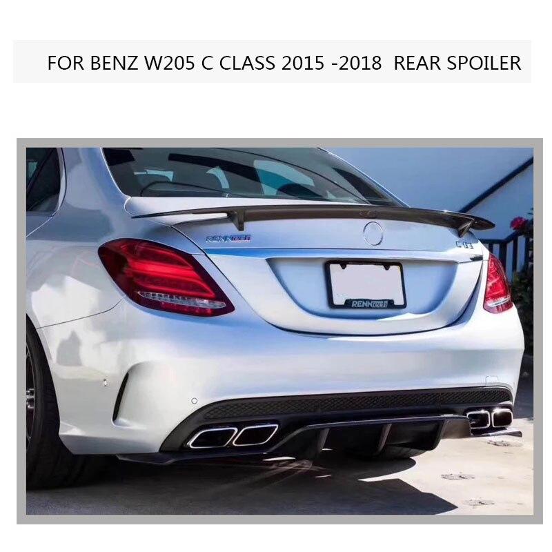 W205 C63 ABS Spoiler for Benz C- CLASS C200 C300 C63 AMG 4-Door Wing Lip Sticker 2015-2018 цена