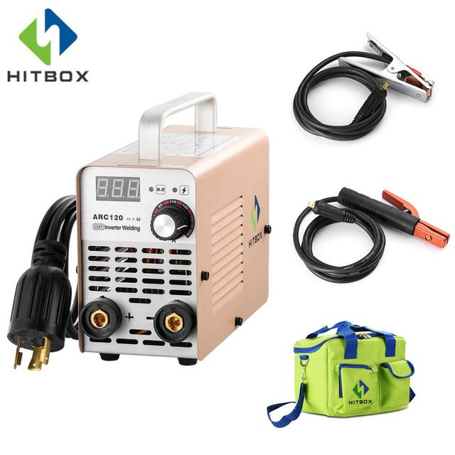 HITBOX Mini Arc Welder 200A MMA Arc200 Welding Machine Digital Control For Carbon Steel Welding Small Size Tool