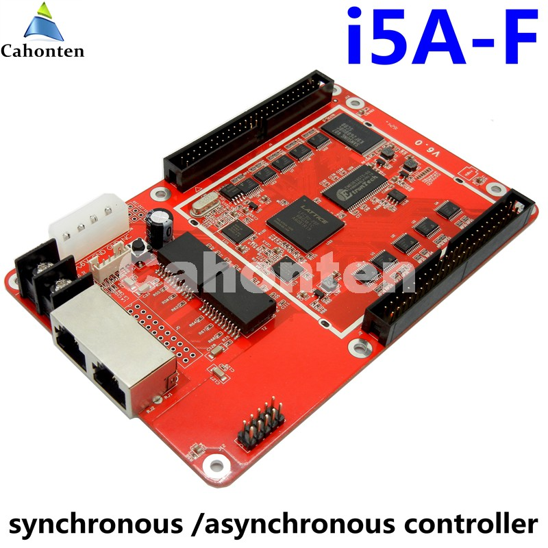 Free shipping i5A-F full color LED cotrol card RGB synchronous asynchronous Dual mode led screen display video controller bx 6q3 usb and ethernet port lintel full color led control card asynchronous video led sign controller 384 1024 512 768pixels