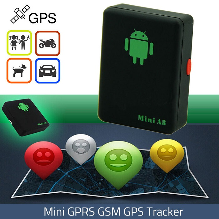 Mini A8 Global Real Time GPS Tracker GSM / 850/900/1800 / 1900mhz - Kereta Elektronik