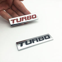 цена на 3D Metal car Sticker TURBO logo Emblem Body Rear Tailgate Badge For Ford Focus 2 3 ST RS Fiesta Mondeo Tuga Ecosport Car Styling