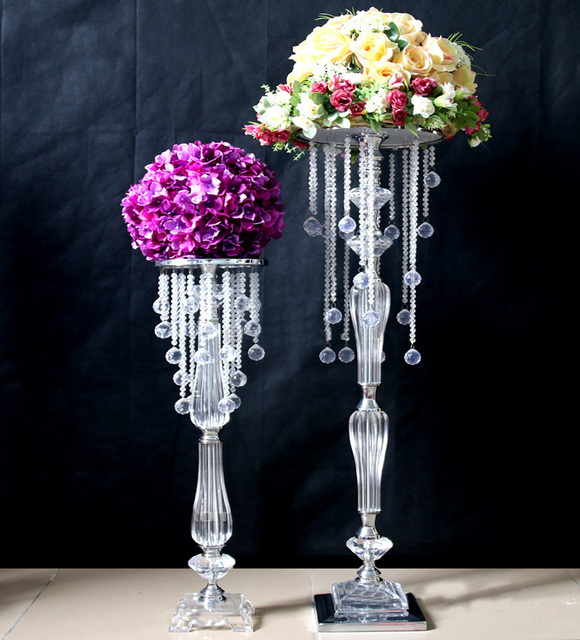 10pcs 70cm Acrylic Crystal Wedding Centerpiece Event Decoration Road Lead Party