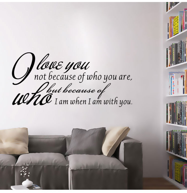 Home decoration stickers decals love quotes wall sticker vinyl home living room decorartion wallpaper for bedroom bd 2 in wall stickers from home garden
