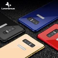 S8 Leanonus Para Samsung Galaxy Note8 S8Plus Híbrido Aluminum Metal Frame + Dura do PC Caso Note8 Acrílico Tampa Traseira S8 Cobertura difícil