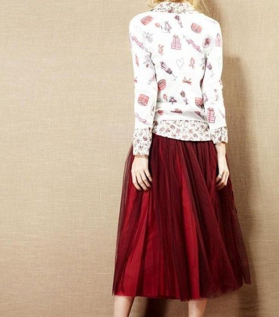 free shipping BOHO bouffant fairy princess style long skirt 3 layers
