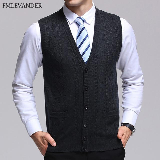 2c2d1cbd0 Men Winter Autumn Spring Business Sweaters Sleeveless Cardigans ...