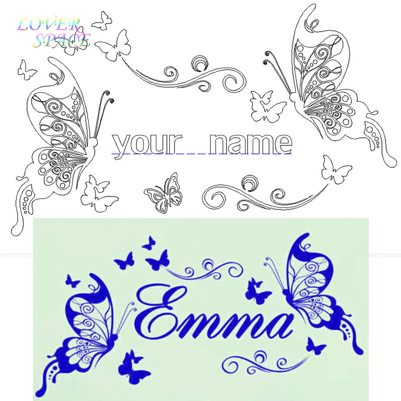 Butterfly Personalized DIY Vinyl Decorative Butterflies Fashion Wall ...