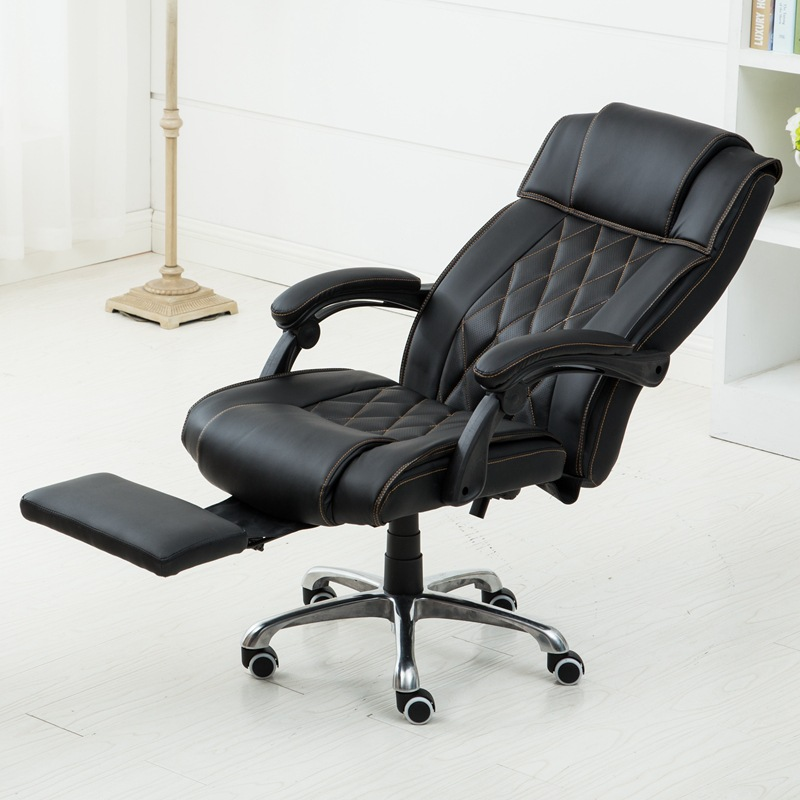 Hot selling comfortable type office chair computer multifunctional lifting chair swivel chair explosion-proof boss computer chair can lie lifting boss chair leather swivel chair