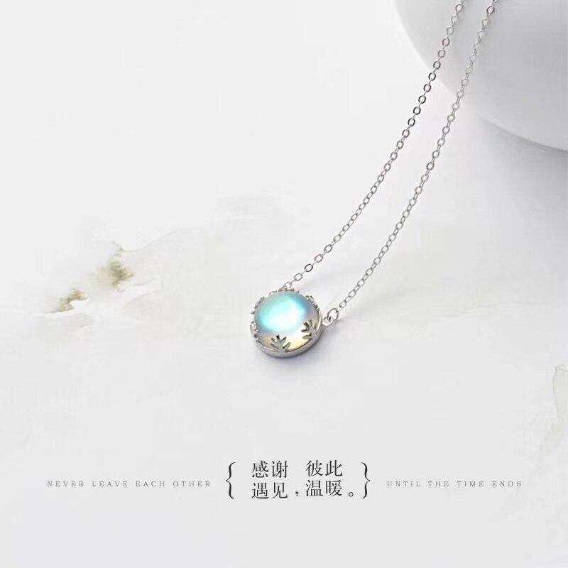 Senhora moda aurora boreal colar s925 mosdream prata esterlina jóias elegante romatic presente para como mulhere