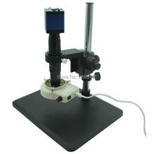 Cheap price HD 2MP 60fps VGA Industrial Digital Electron Microscope Camera+Fine adjustment bracket+10X-200X C-Mount Lens+56 LED light