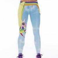 Free Shipping HOT New Arival 3D Women Rainbow Star Printed Leggings Knitted Fashion Skinny Leggings Polainas