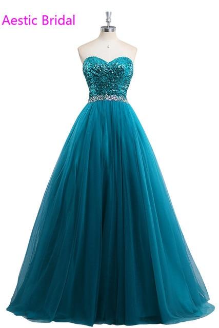 prom dress teal strapless