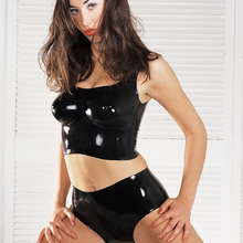 Латекс сексуальный косплей наряд бюстгальтер с шортами комплект сексуальная леди Фетиш обтягивающие костюмы