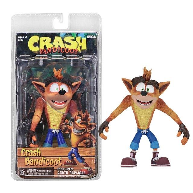 6 polegada Jogo NECA Original Crash Bandicoot Sã Trilogia Action Figure Boneca de Brinquedo