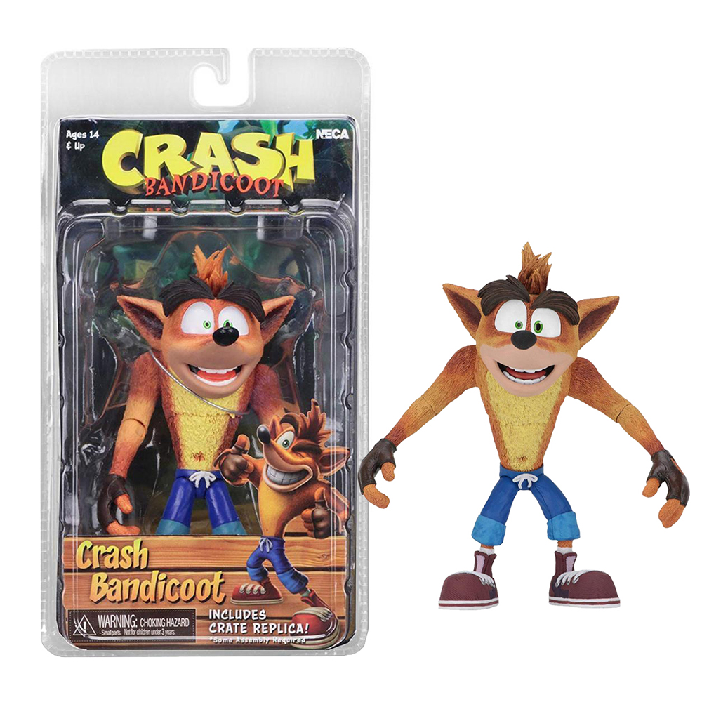 6 pollici NECA Originale Gioco Crash Bandicoot Sane Trilogy Action Figure Toy Doll
