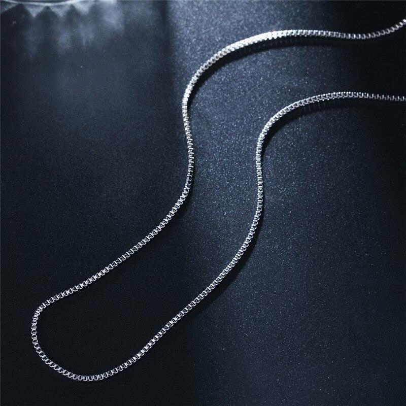 Новая мода 1,4 мм серебро/золото цвет Женская и мужская коробка ожерелье цепь высокое качество ювелирные изделия - Окраска металла: Silver