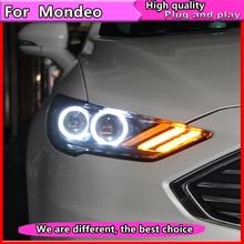 Auto Styling für Ford Mondeo 2016 2018 LED Scheinwerfer für Neue Fusion Kopf Lampe Dynamische blinker LED DRL bi Xenon HID