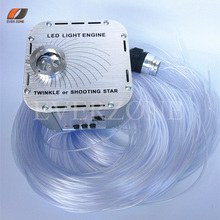 лучшая цена Sparkle Fiber Optic Light Bundle Cable Kits 500pcs 1*0.75mm 2m LED 27W Light Source RF Controller