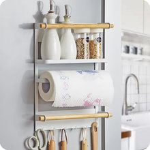 Настенная подставка для холодильника кухонный Органайзер