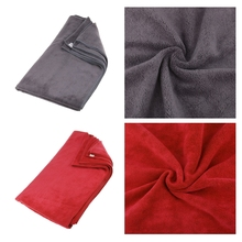2 Pcs 60cmX180cm Microfibre Super Absorbent Water Cleaning Wash Towel Red+Grey