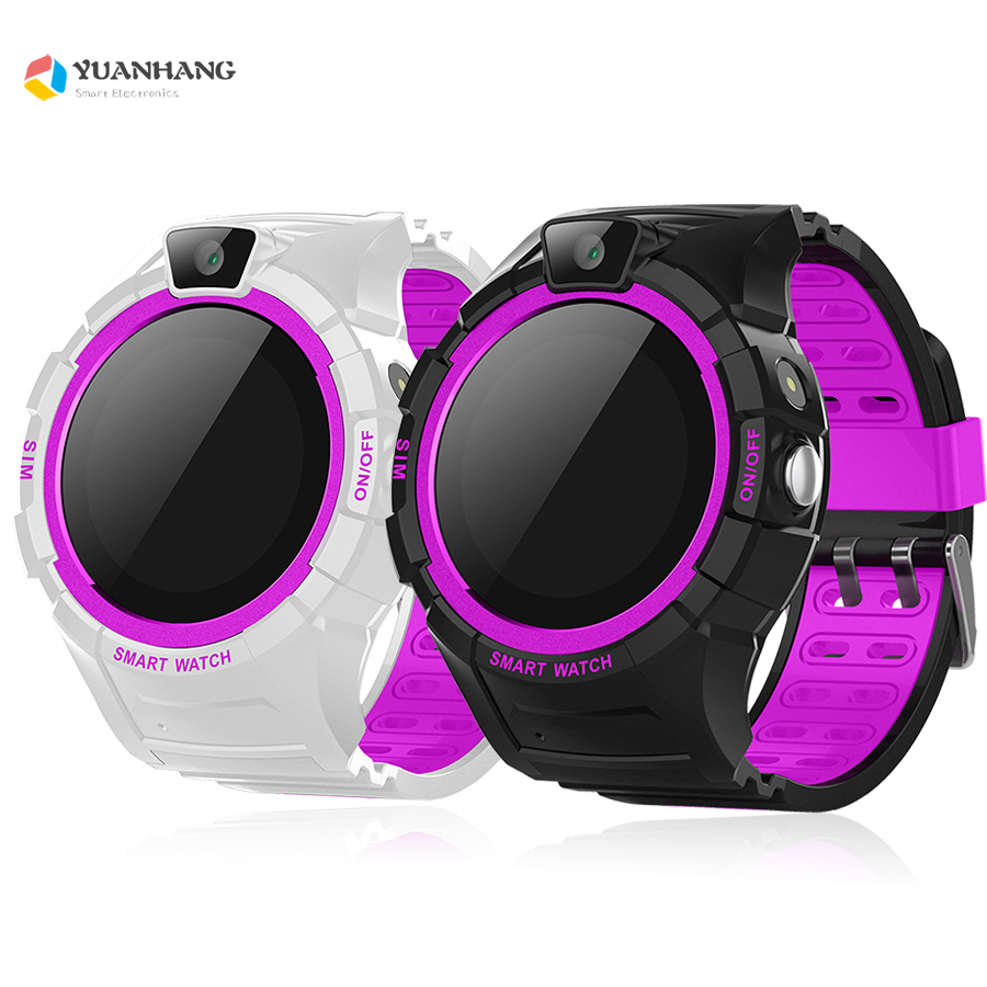 Smart GPS Tracker Locator SOS Call Remote Camera Monitor Anti-Lost Kids Child Student Phone Touch Round Screen Watch WristWatch new colors oled screen t58 smart gps wifi tracker locator anti lost sos remote monitor watch for kids child student wristwatch