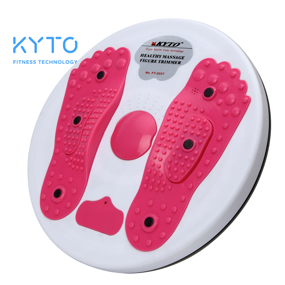 KYTO Waist Twisting Disc Magnet Balance Board Fitness Equipment Good for Body Exercise Training Foot Shaped Figure Trimmer