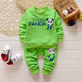 2016 New Spring/Autumn Baby Set Velvet pand Cartoon Print  Pant Twinset Long Sleeve Velour Baby Clothing Sets