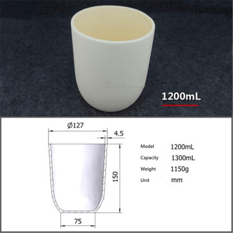 99.5% corundum crucible/Alumina ceramic crucible/1200ml/Temperature resistance 1600 degree / sintered ceramic crucible the crucible