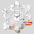 2015 free reloj de pared clocks shipping new real rushed clock watch home decoration Wall Stickers Mirror Acrylic Living Room