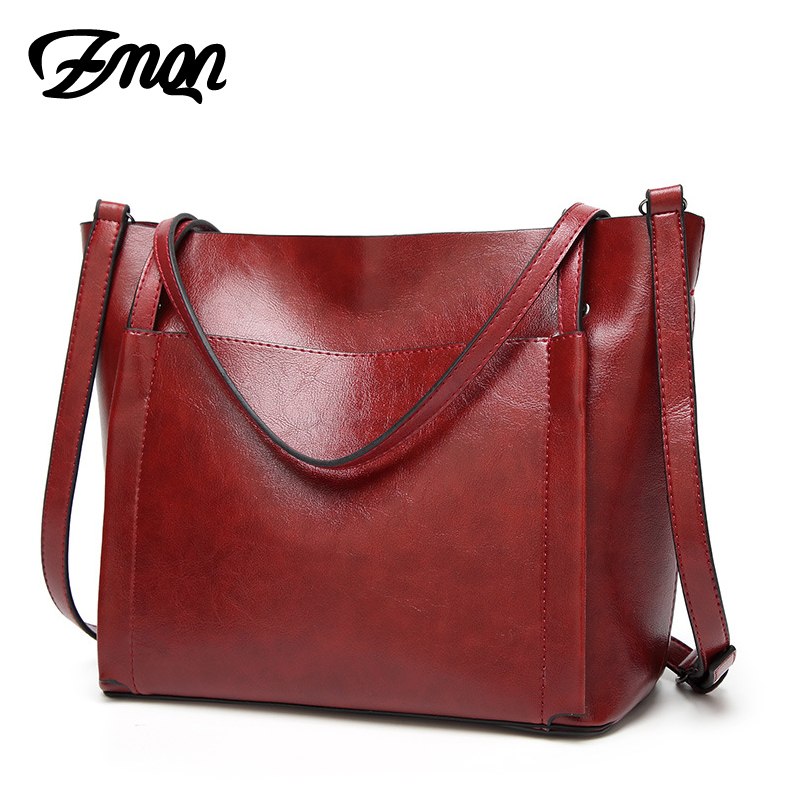 ZMQN Brands Handbags For Womens Vintage Style Oil Wax Leather High Quality Tote Bags <font><b>China</b></font> Yiwu Outlet Wholesale Handbags A830