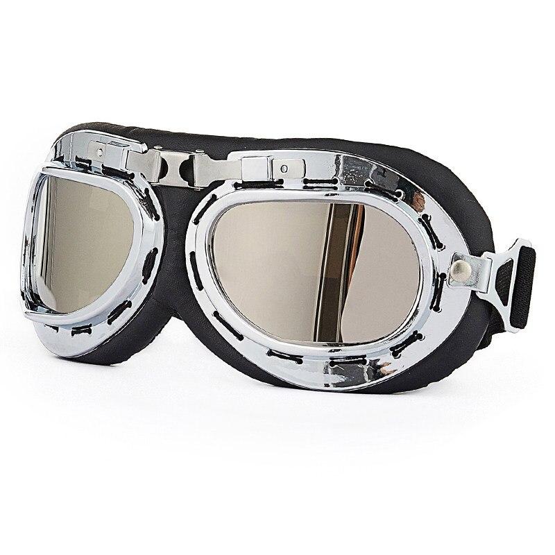 VIRTUE Antrojo pasaulinio karo Vintage stiliaus motociklų gafas motokroso motociklas 'Scooter' akinių stiklai