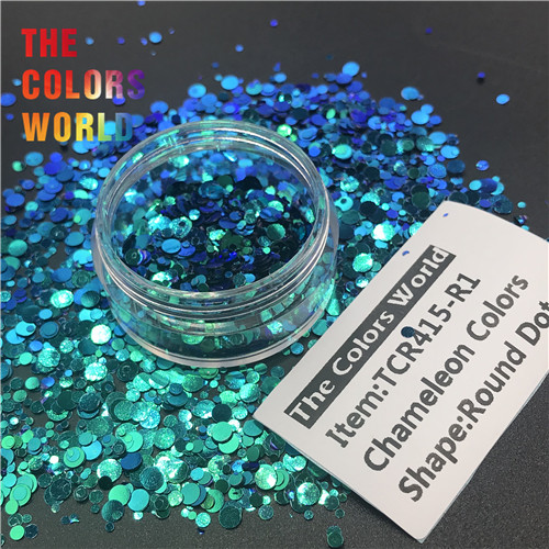 US $9 87 |TCT 316 Chameleon Colors Round Dot Shape Nails Glitter Nails Art  Decoration Body Glitter Tumblers Shaker Crafts Festival DIY-in Nail Glitter