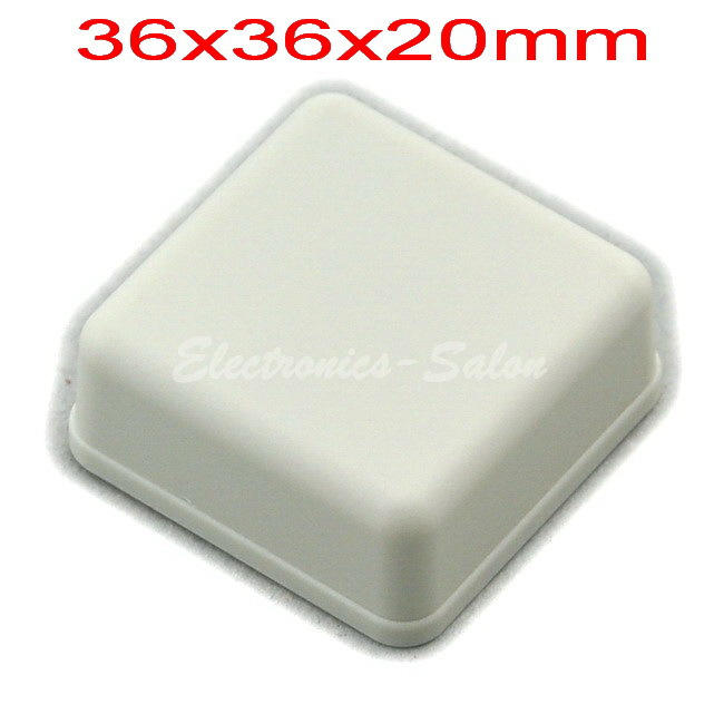 Small Desk-top Plastic Enclosure Box Case,White, 36x36x20mm, HIGH QUALITY.