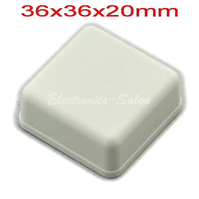 Small Desk-top Plastic Enclosure Box Case,White, 36x36x20mm, HIGH QUALITY.