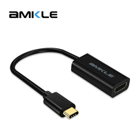 Amkle Type C 3 1 USB C Male To HDMI Cable Female HD TV 1080P Display